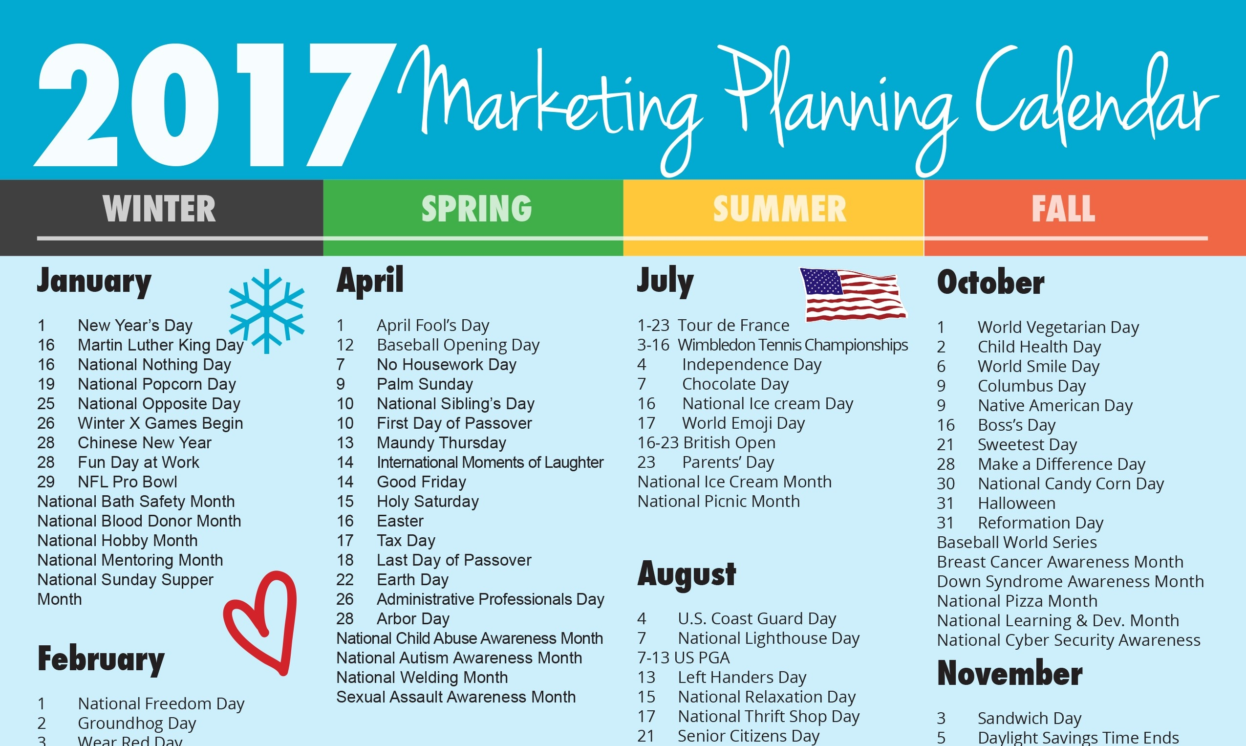 Ultimate 2017 Marketing Planning Calendar - Vandenberg Web +-August Monthly Awareness Calendar