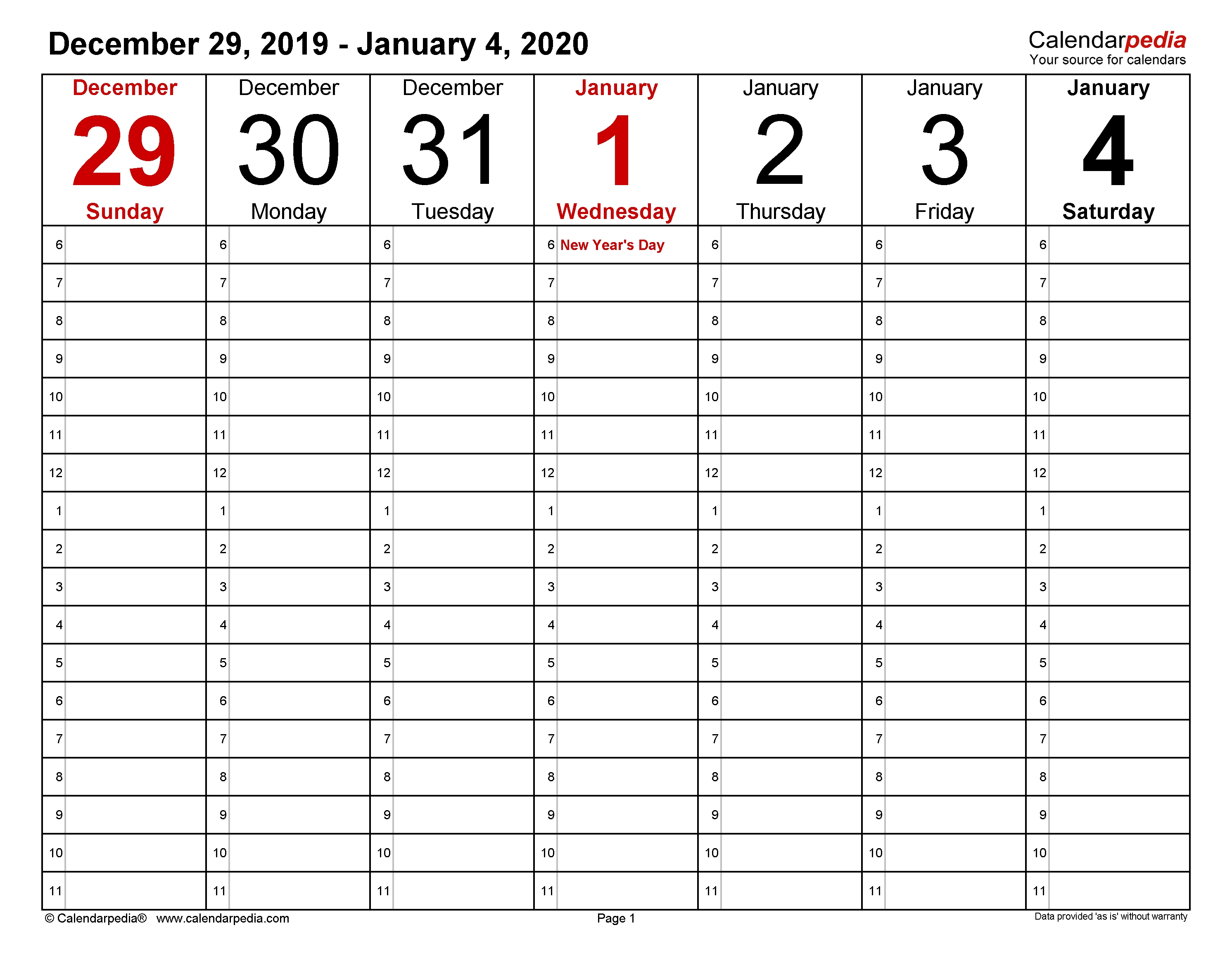 Weekly Calendars 2020 For Word - 12 Free Printable Templates-2020 Calendar Templates Monday - Friday