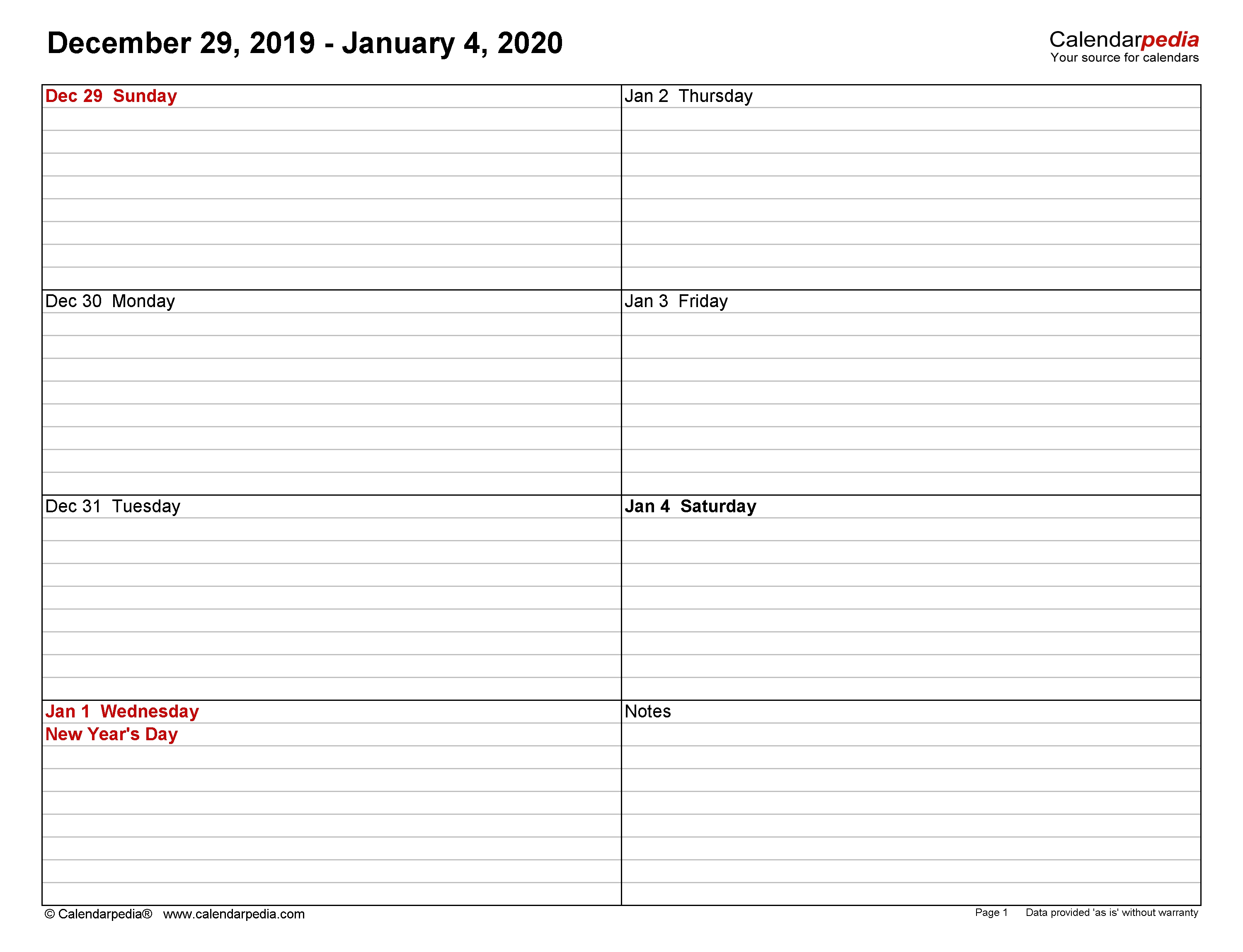 Weekly Calendars 2020 For Word - 12 Free Printable Templates-Day To Day Calendar Template 2020