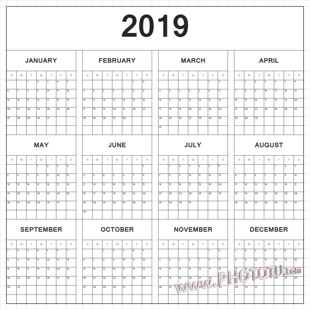 12 Month Calendar 2019 Printable – Template Calendar Design-12 Hour Shift Calendar 2021