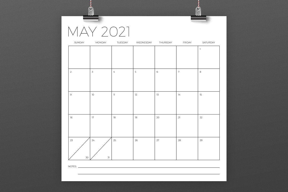12 X 12 Inch Minimal 2021 Calendar In 2020 | 2020 Calendar Template, Calendar Template, 2021-Printable October 2021 Calendar On An 8.5 X 11Paper