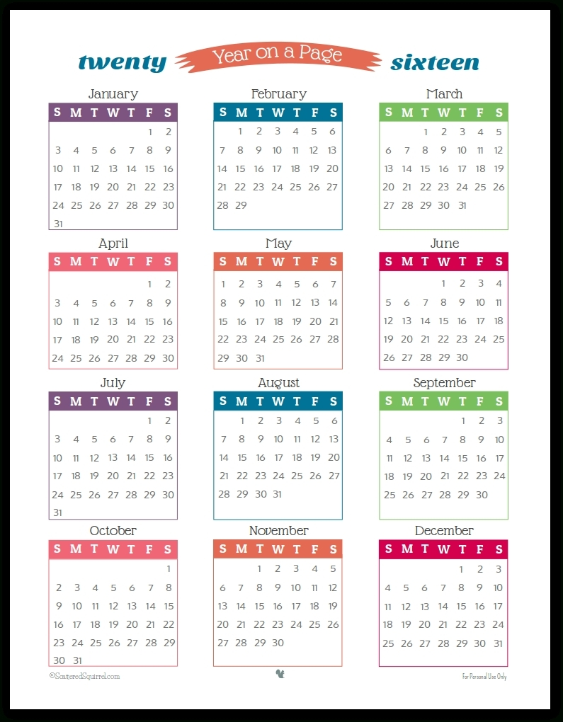 2 Year Calendar On One Page | Ten Free Printable Calendar 2020-2021-Free Printable Fill In Calendars 2021