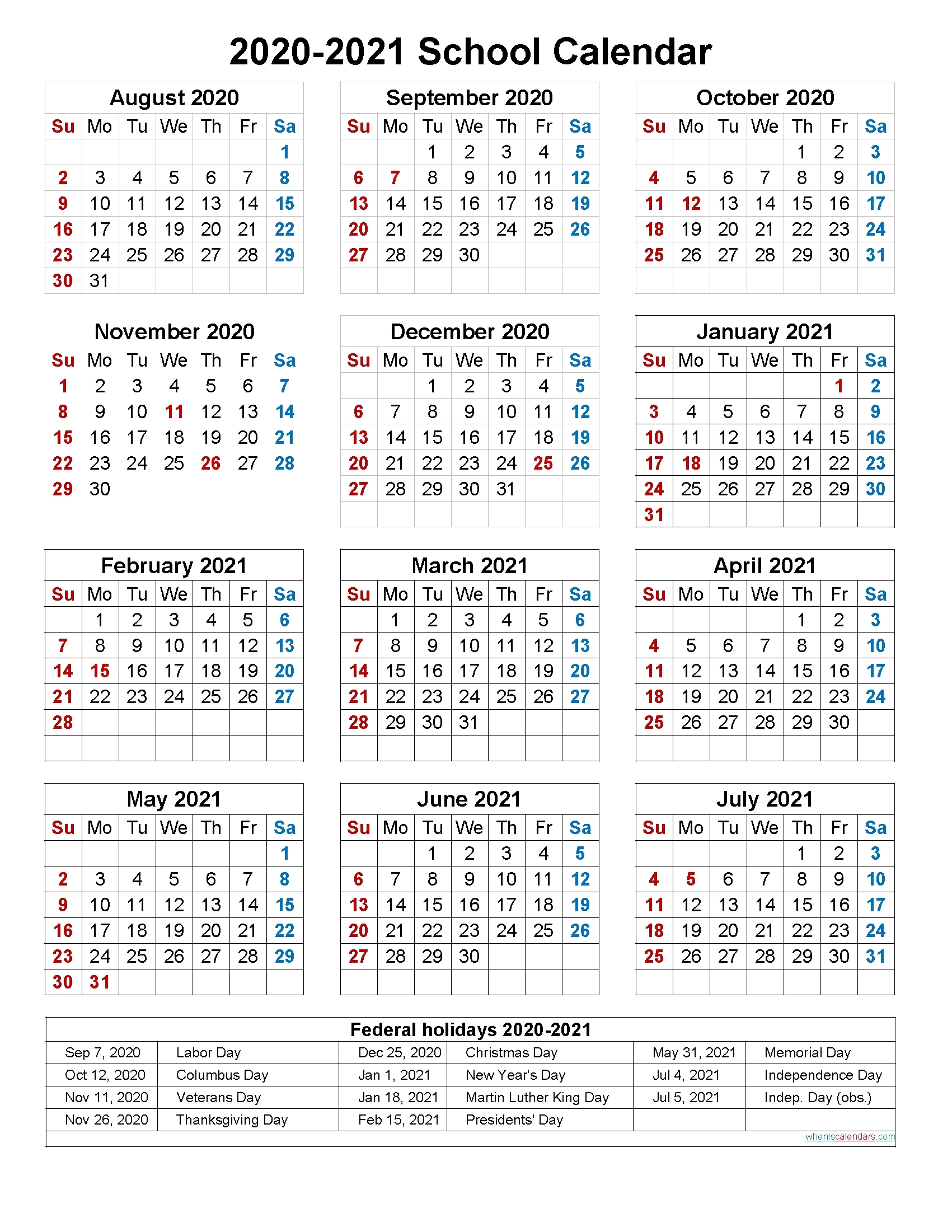 2020 2020 Academic Calendar Template | Calendar Template 2020-Calendar For Shift Work 2021