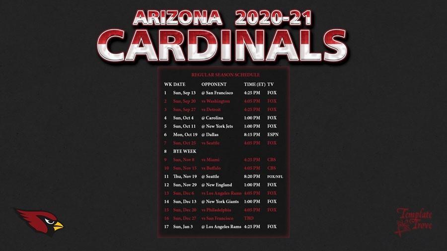 2020-2021 Arizona Cardinals Wallpaper Schedule-2021 Nfl Football Schedule Printable