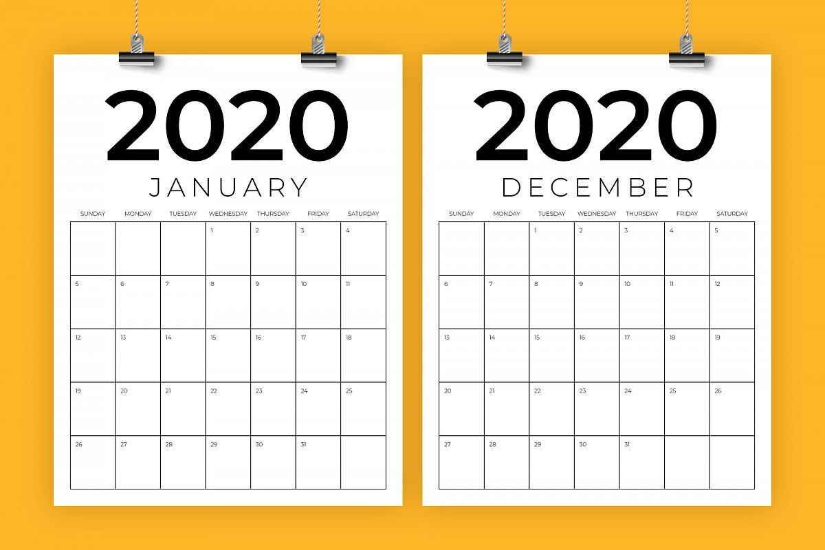 2020 Calendar 8.5 X 11 | Free Printable Calendar-8.5 X 11 Calendar Print
