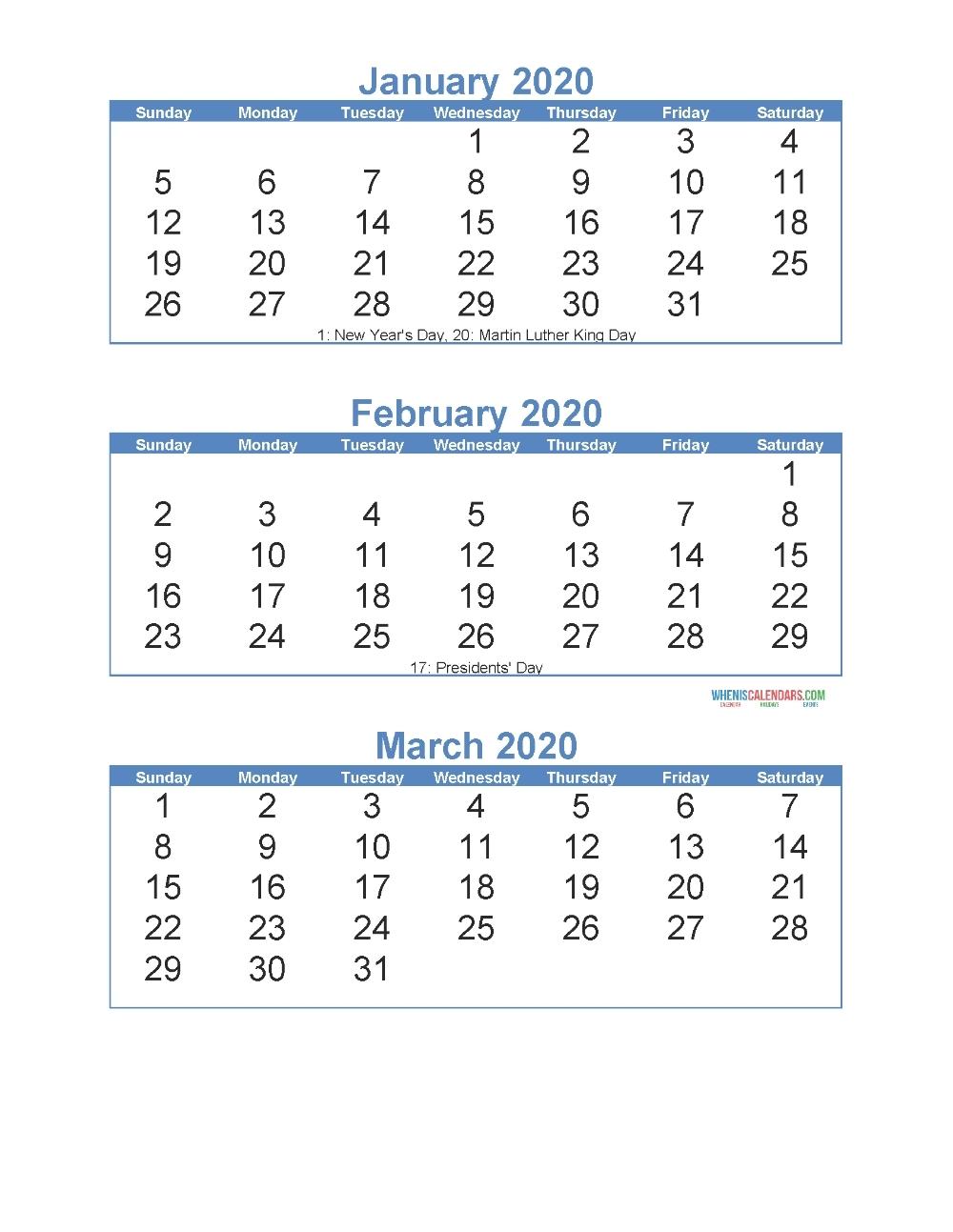 2020 Calendar With Days Numbered | Calendar Template 2020-Fill In Printable Calendar 2021