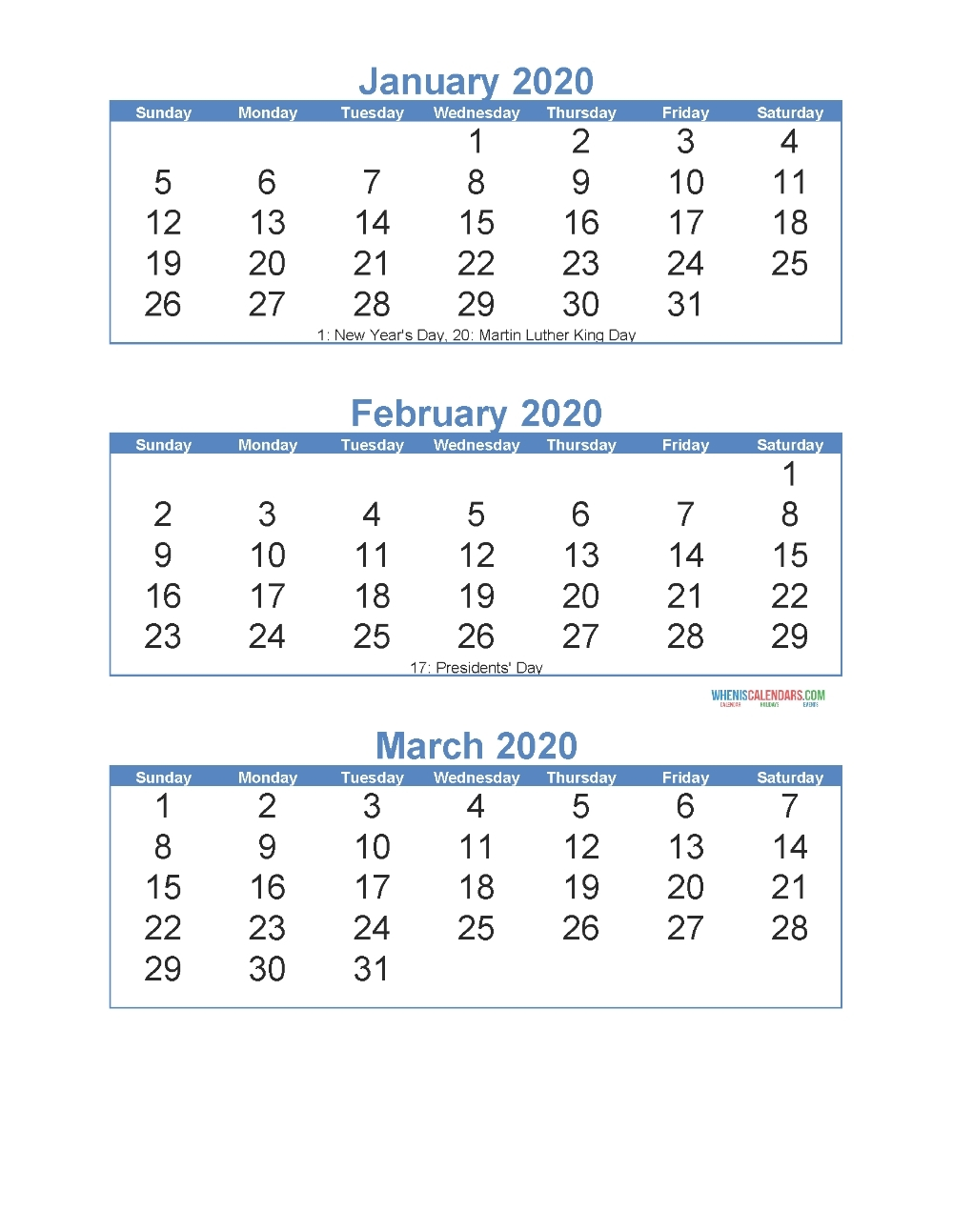 2020 Calendar With Days Numbered | Calendar Template 2020-Free Fill In Calendar 2021
