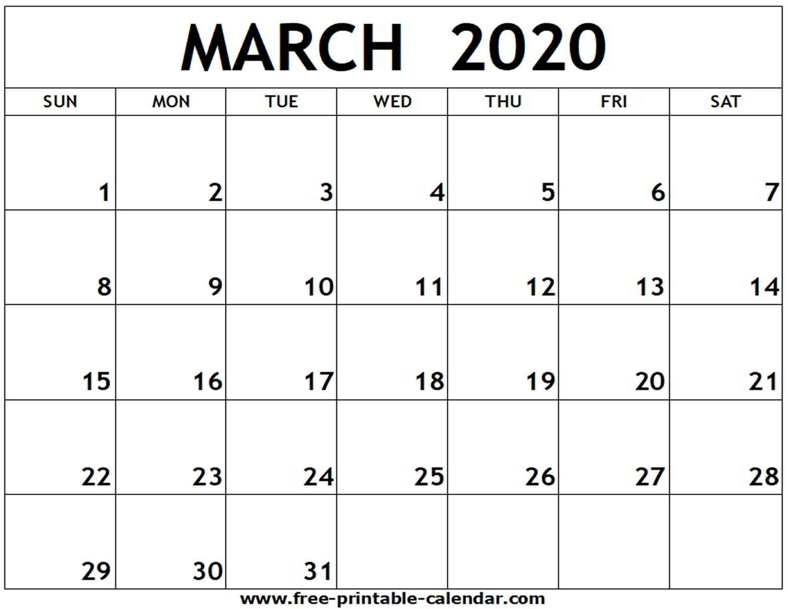 2020 Fill In Calendar - Calendar Inspiration Design-Free Fill In Printable Calendar