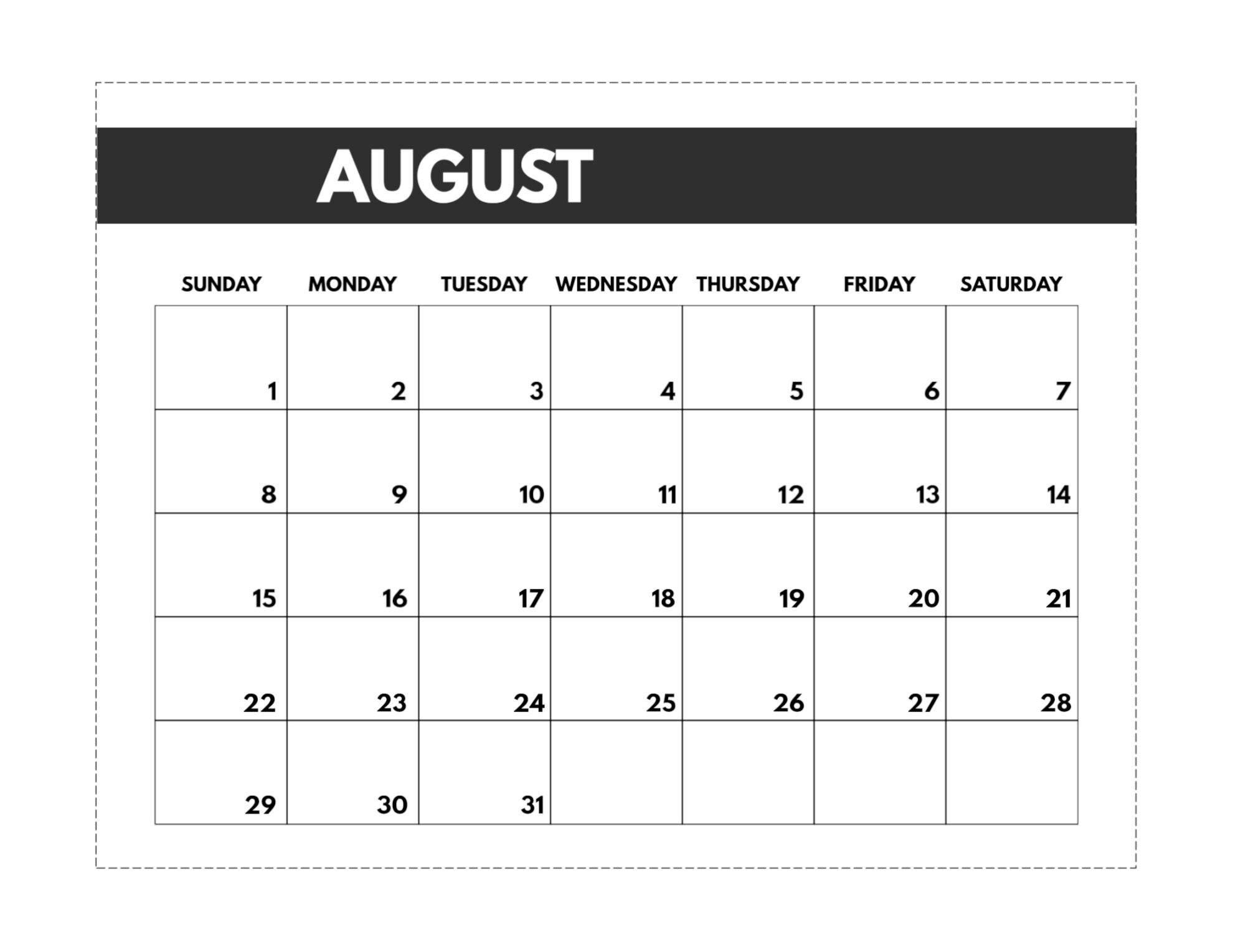 2021 Free Monthly Calendar Templates | Paper Trail Design-Printable October 2021 Calendar On An 8.5 X 11Paper