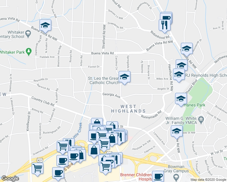 2021 Georgia Avenue, Winston-Salem Nc - Walk Score-Georgia Rut Map 2021