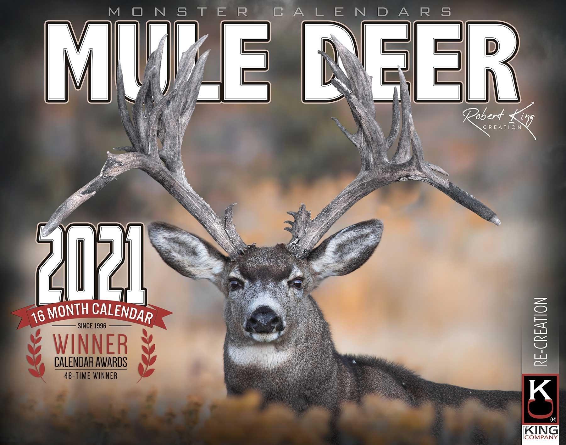 2021 Monster Mule Deer Calendar - The King Company-2021 Whitetail Rut Calendar