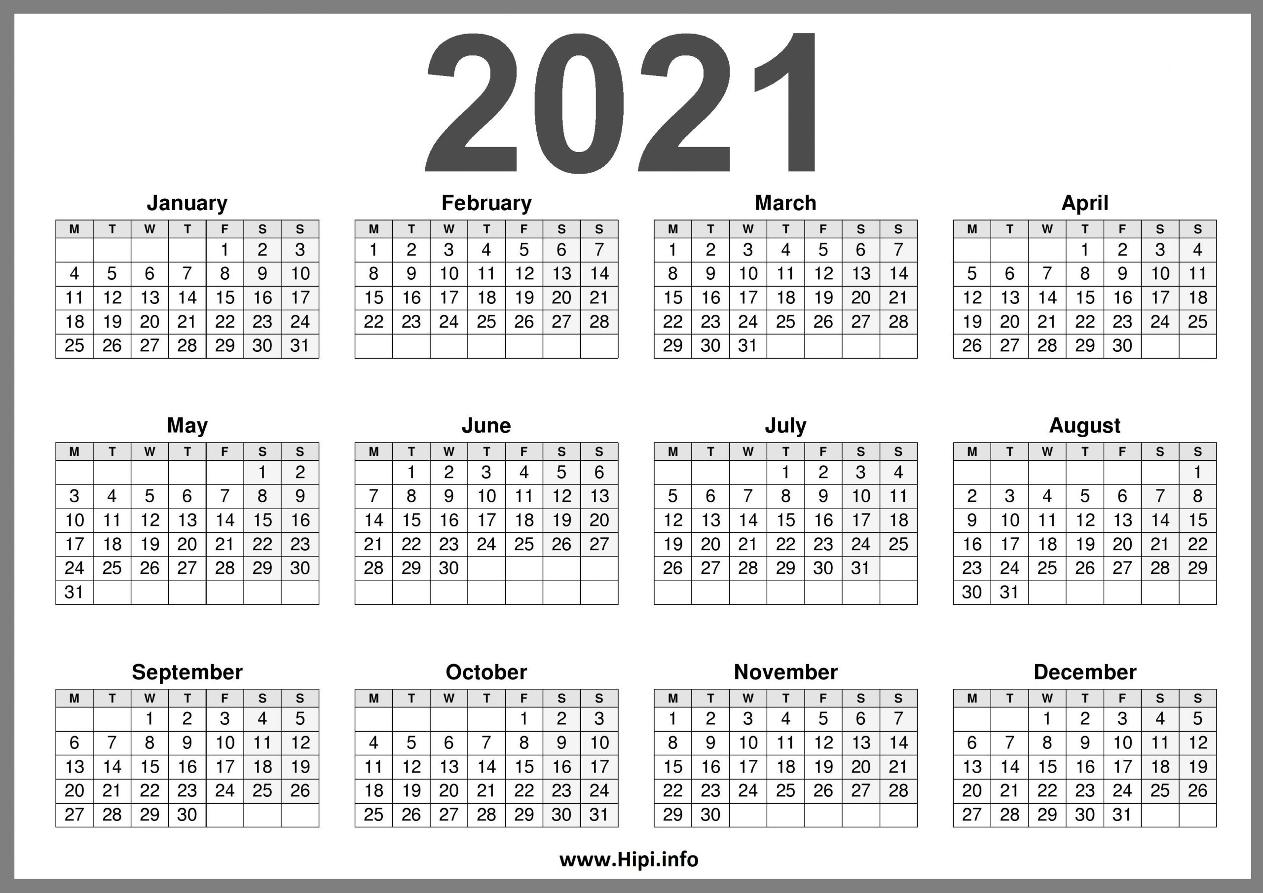 2021 Printable Calendar (Uk) United Kingdom - Hipi-2021 Print Free Calendars Without Downloading