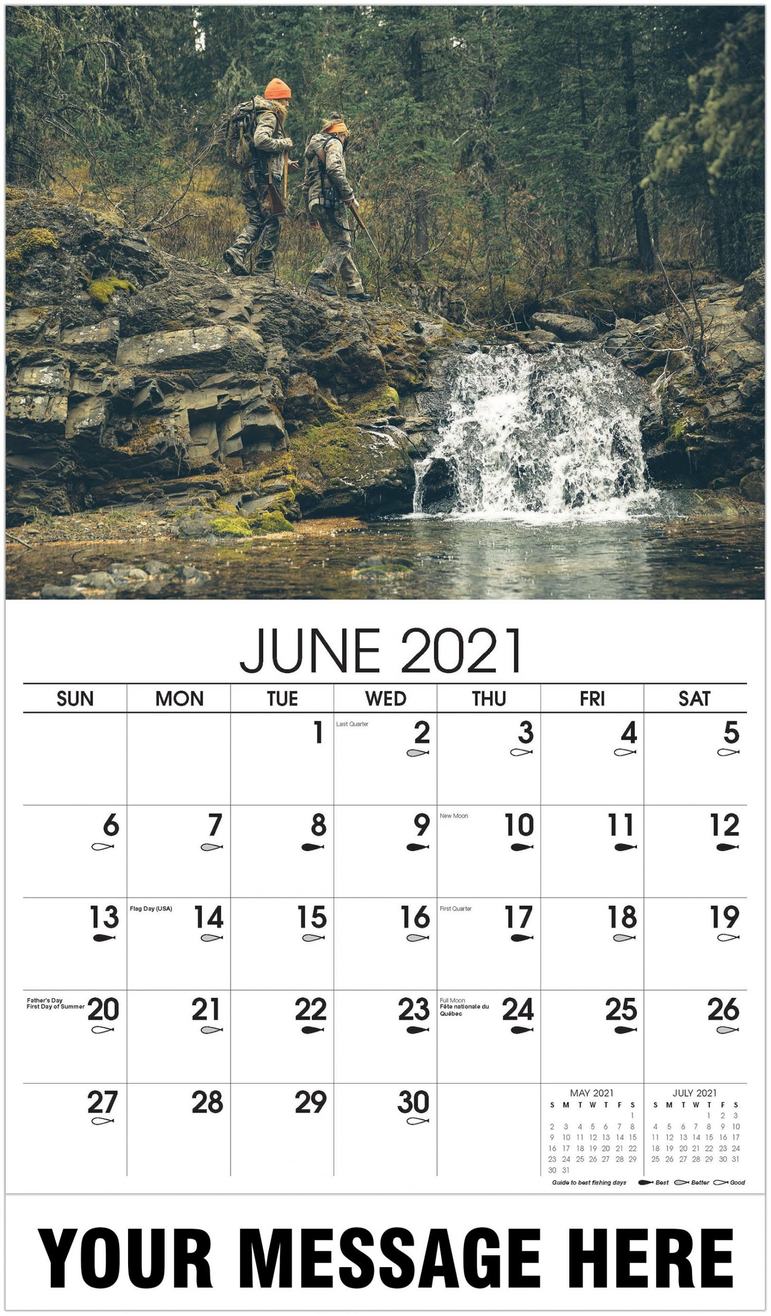 2021 Promotional Advertising Calendar | Fishing And Hunting-Indiana 2021 Deer Calender