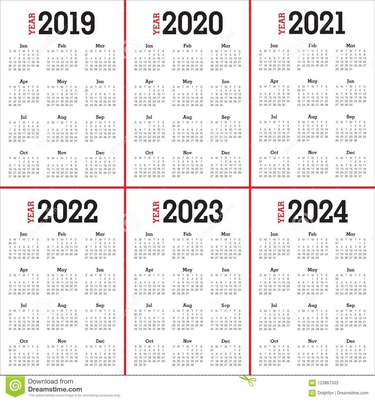3 Year Calendar 2022 To 2024 | Month Calendar Printable-3 Year Calendar 2021 To 2023