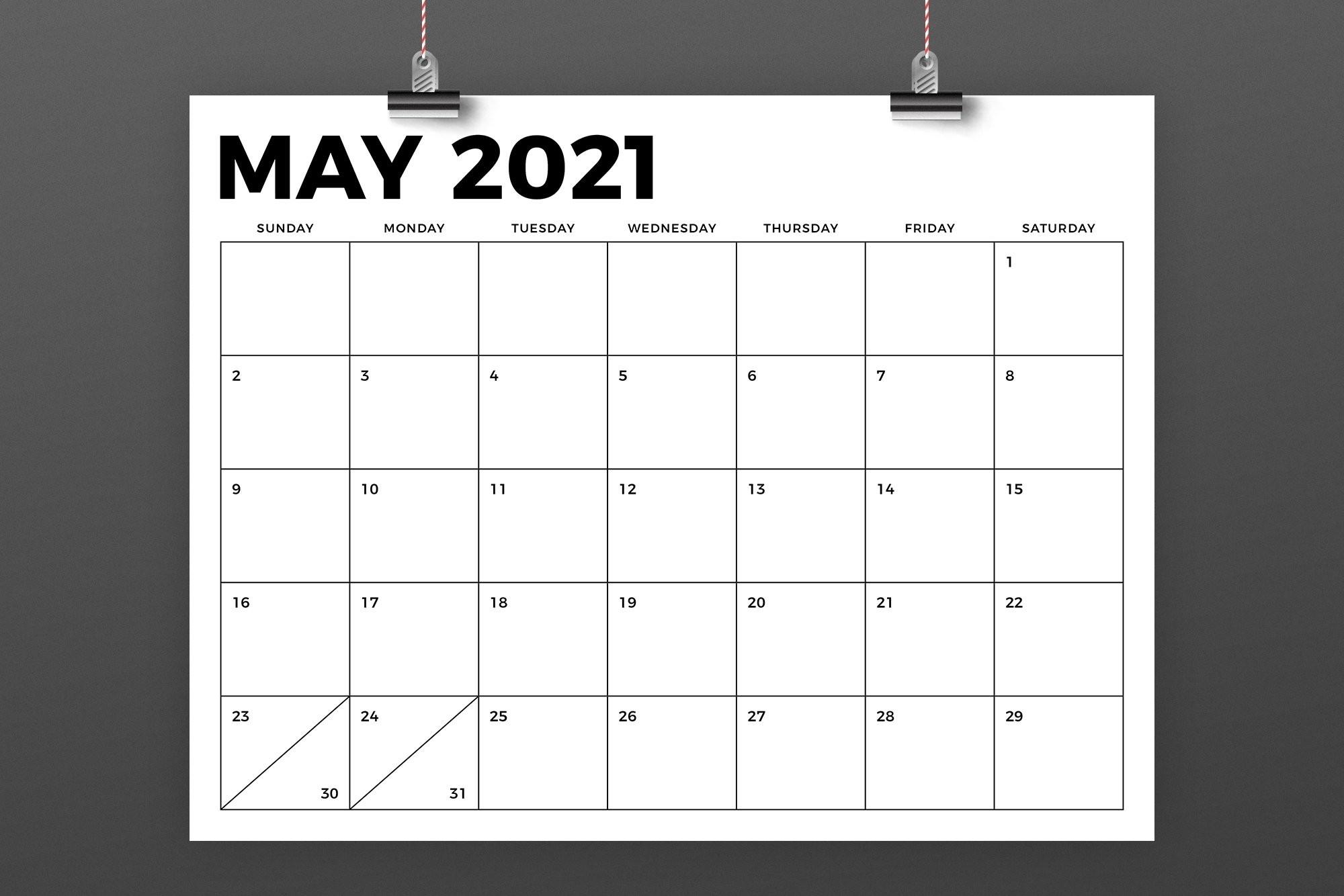 8.5 X 11 Inch Bold 2021 Calendar (438443) | Flyers | Design Bundles-Printable October 2021 Calendar On An 8.5 X 11Paper