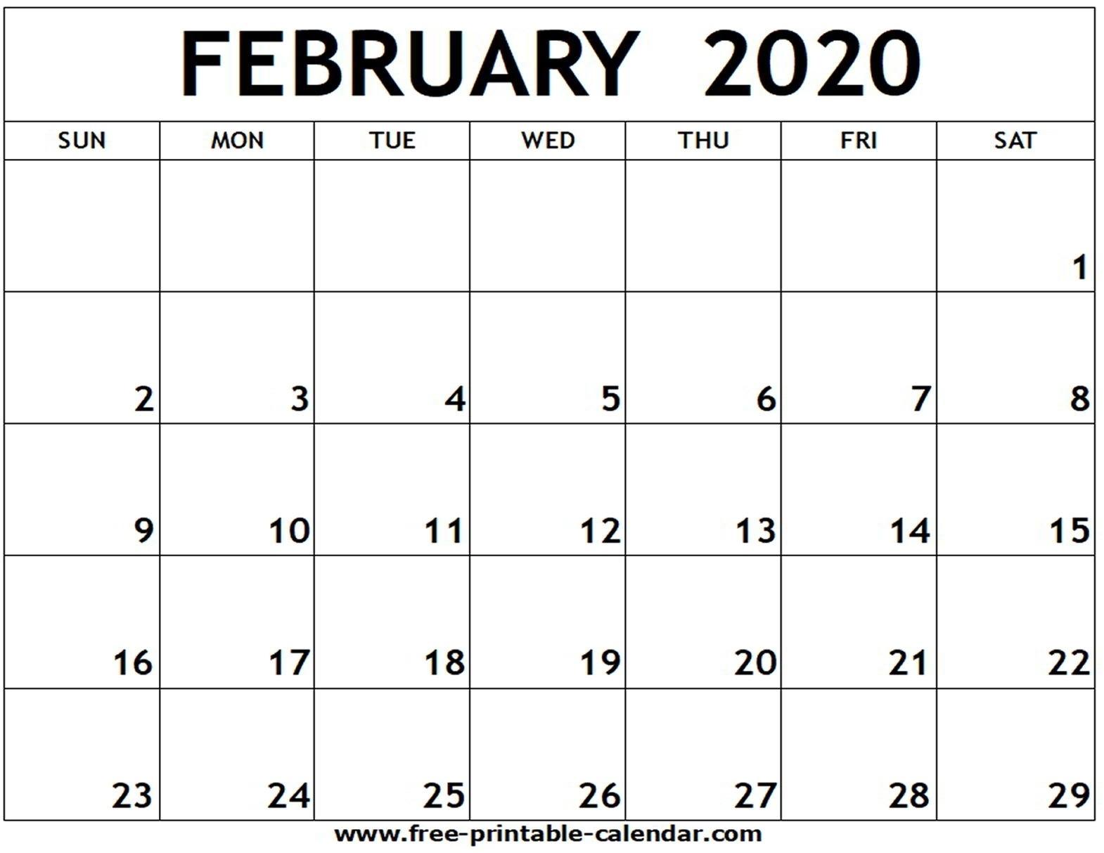 Blank Calander 2020 Fill In - Calendar Inspiration Design-Free Fill In Printable Calendars