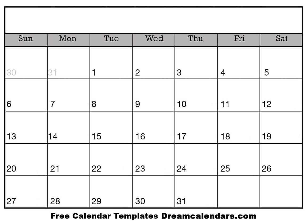 Blank Calendar To Fill In Free | Calendar Template Printable Monthly Yearly-Free Fill In Printable Calendar