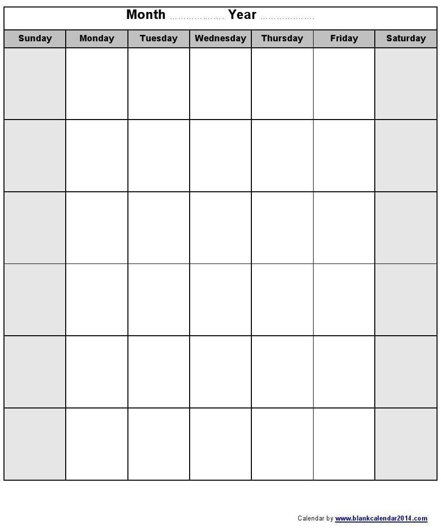 Blank Monthly Calendar Printable 2018 – Template Calendar Design-Printable Fill In Calendar By Month