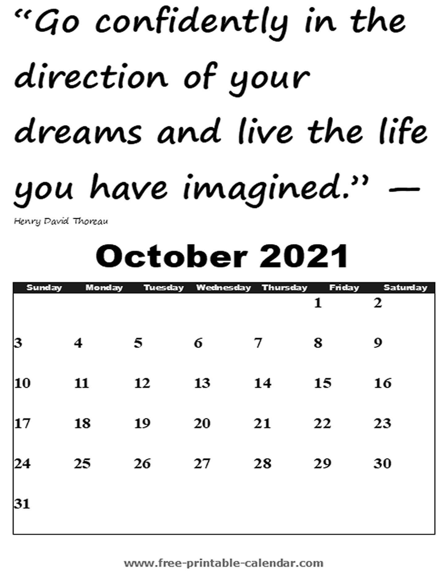 Fill In Calendar 2021   Calendar Template Printable