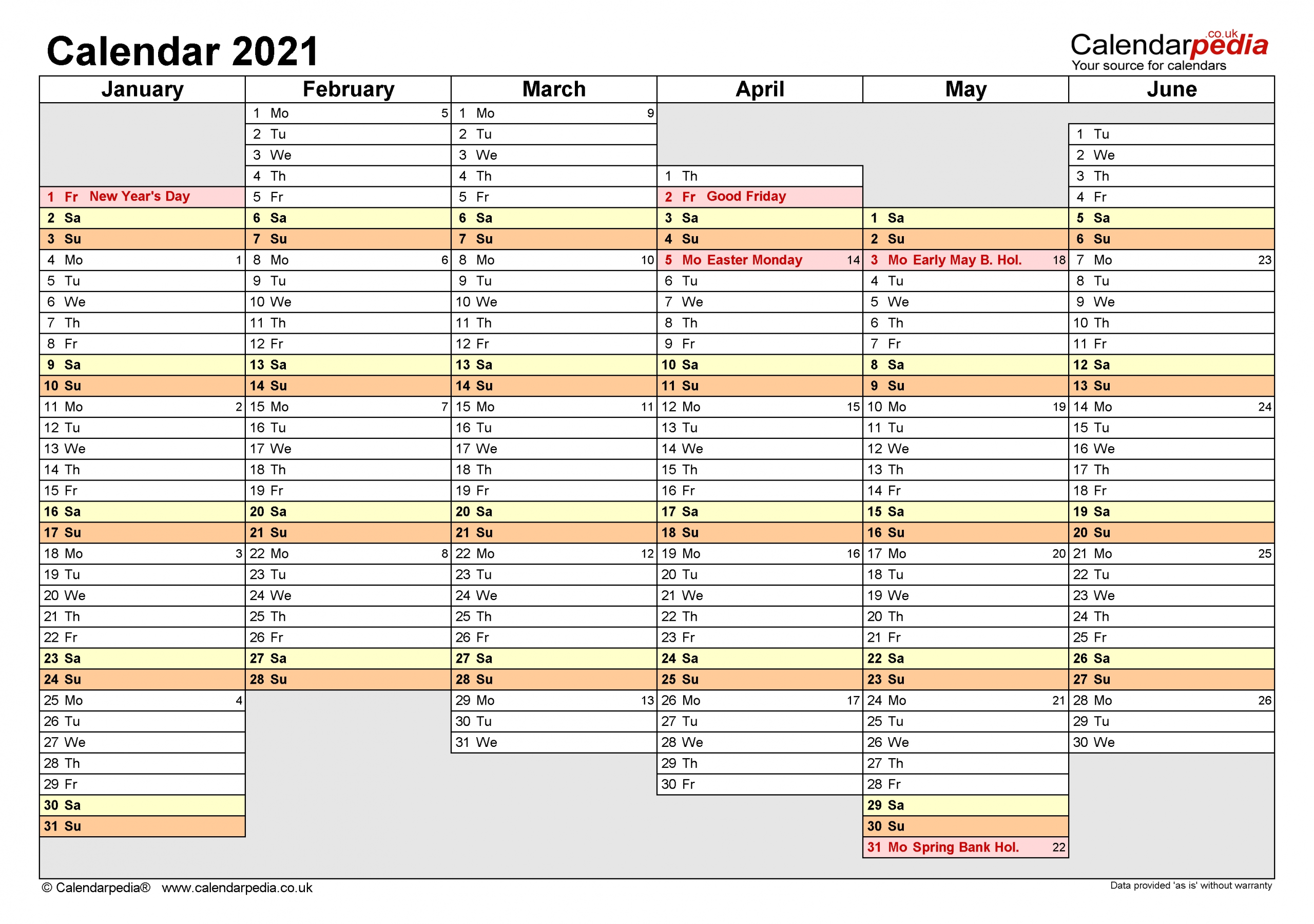 Large Number Flip Calendar 2021 | Calendar Template Printable