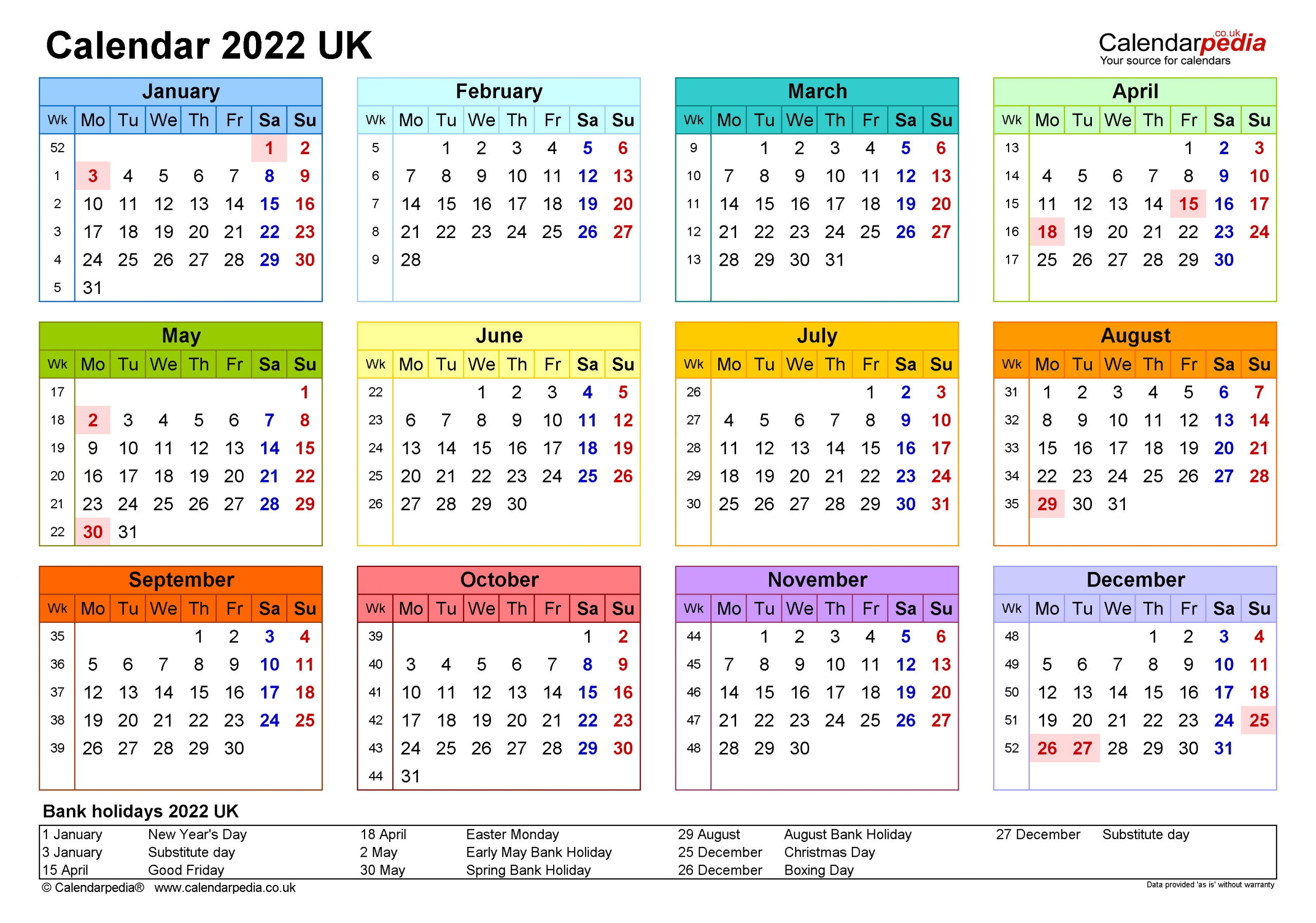 Calendar 2022 (Uk) - Free Printable Pdf Templates-Large Number Flip Calendar 2021