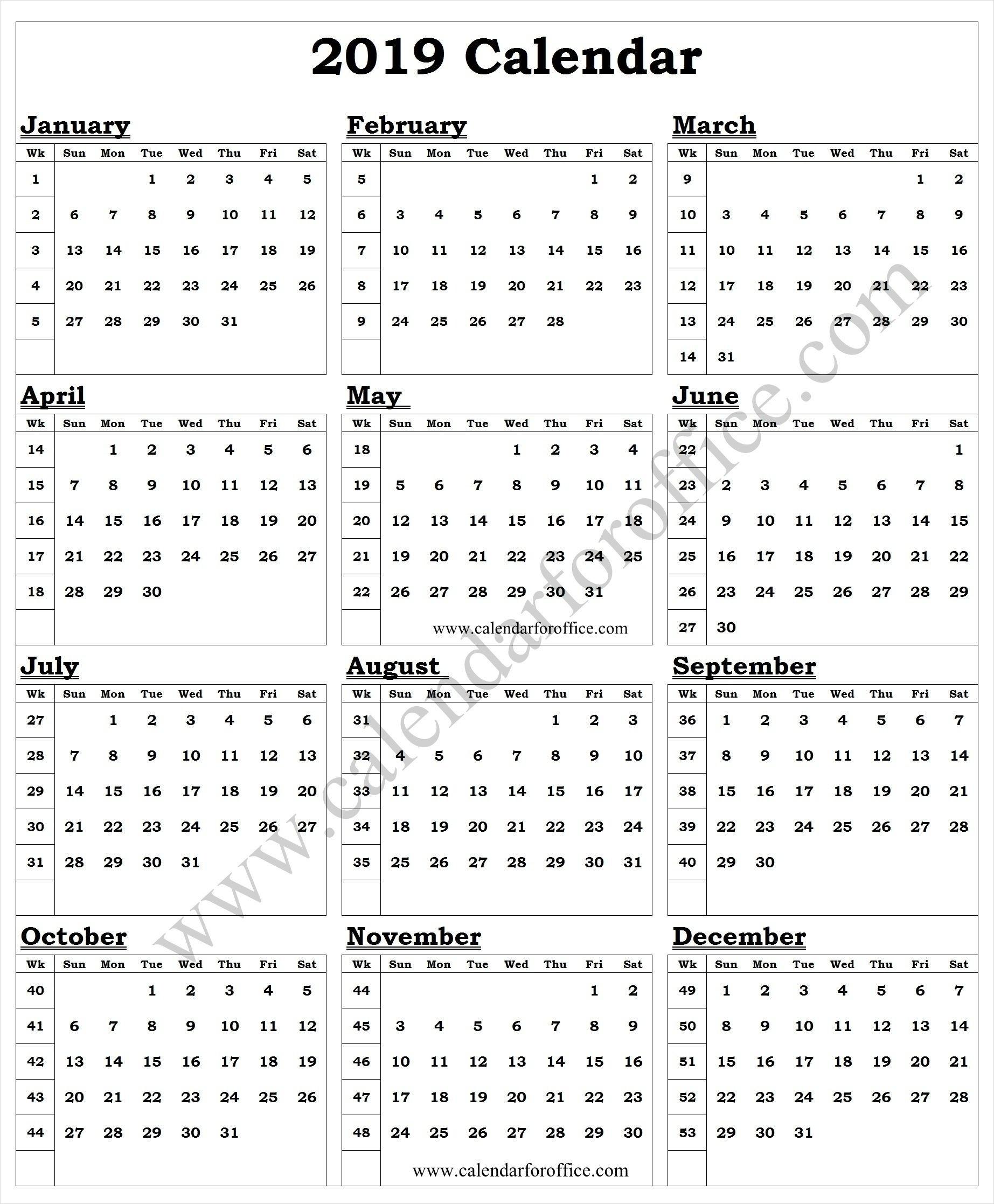 Calendar Week Of The Year   Ten Free Printable Calendar 2020-2021-Yearly Week Number Calendar Excel0.