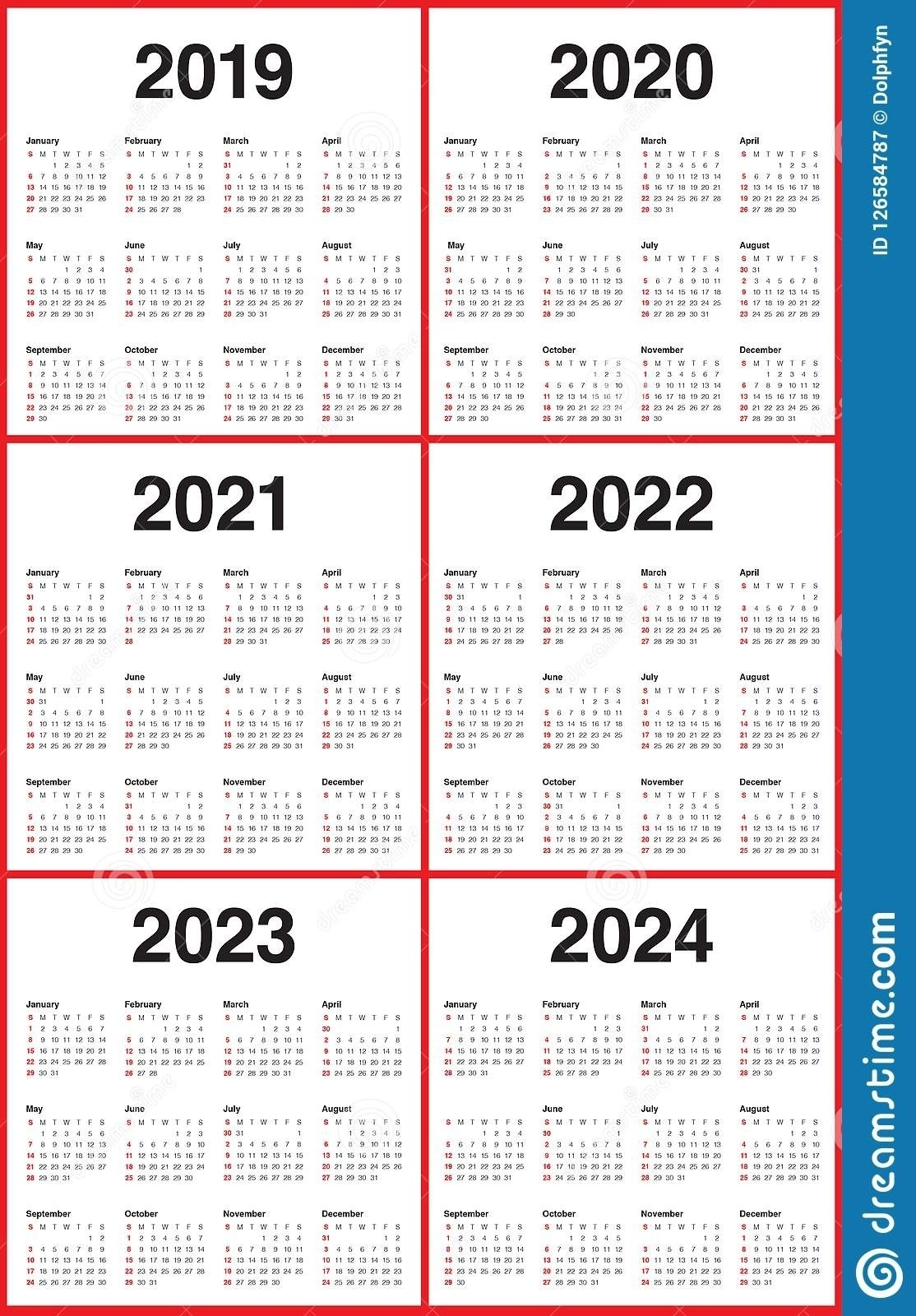 Dashing 3 Year Calendar 2020 To 2022 • Printable Blank Calendar Template-3 Year Calendar 2021 To 2023