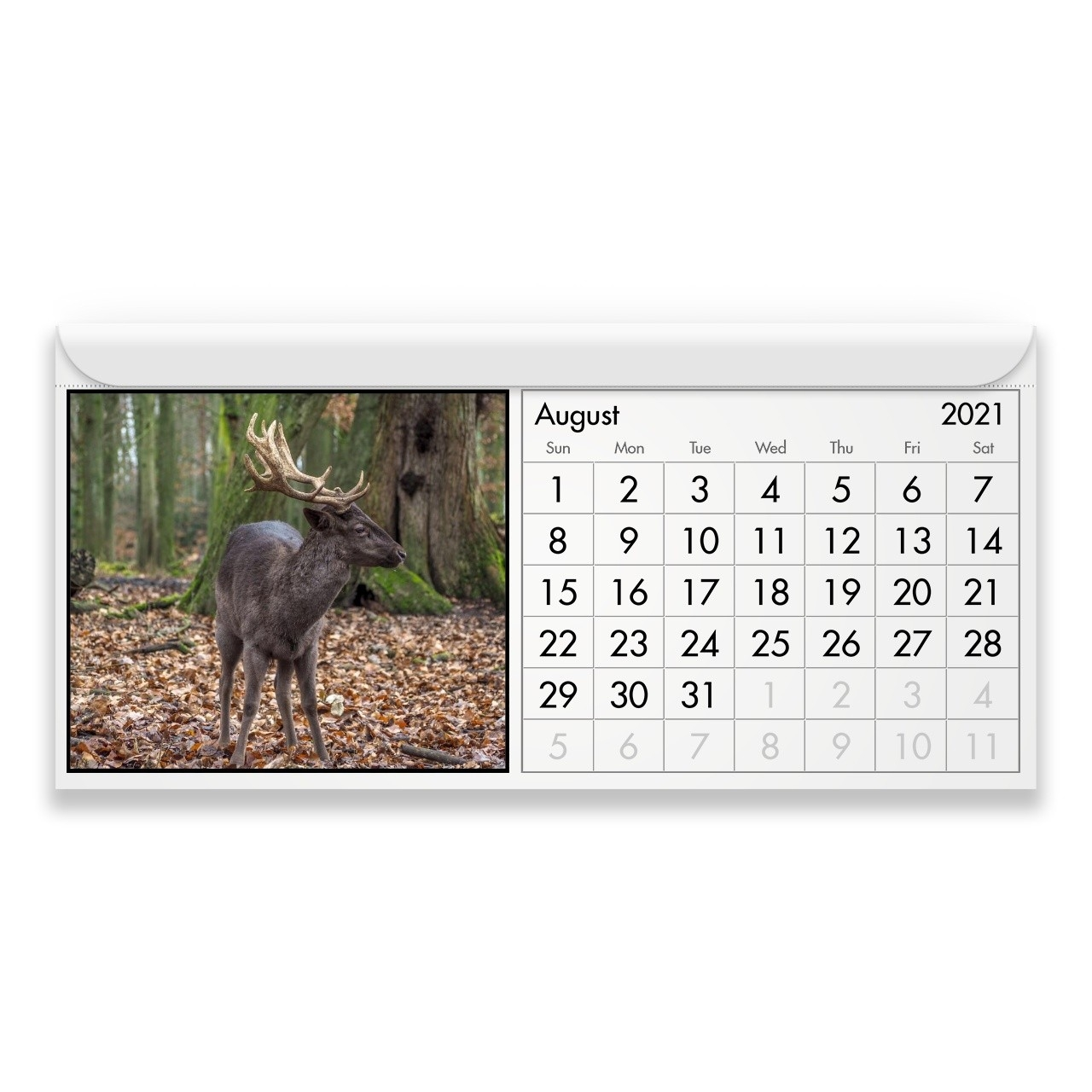 Deer 2021 Magnetic Calendar-2021 Deer And Deer Hunting Rut Calendar