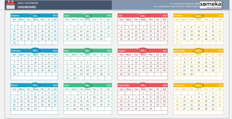 Excel Calendar Template 2020 - Free Printable Calendar-2021 Calnder By Week No Excel