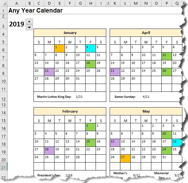 Excel Calendar Template Date Formulas Explained • My Online Training Hub-Yearly Week Number Calendar Excel0.