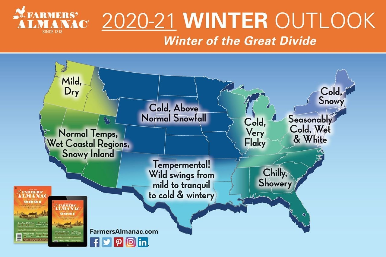 Farmer's Almanac: 'Winter Of The Great Divide,' With A Blizzard Of 1-2 Feet Of Snow - Pennlive-Pa Reut Season 2021