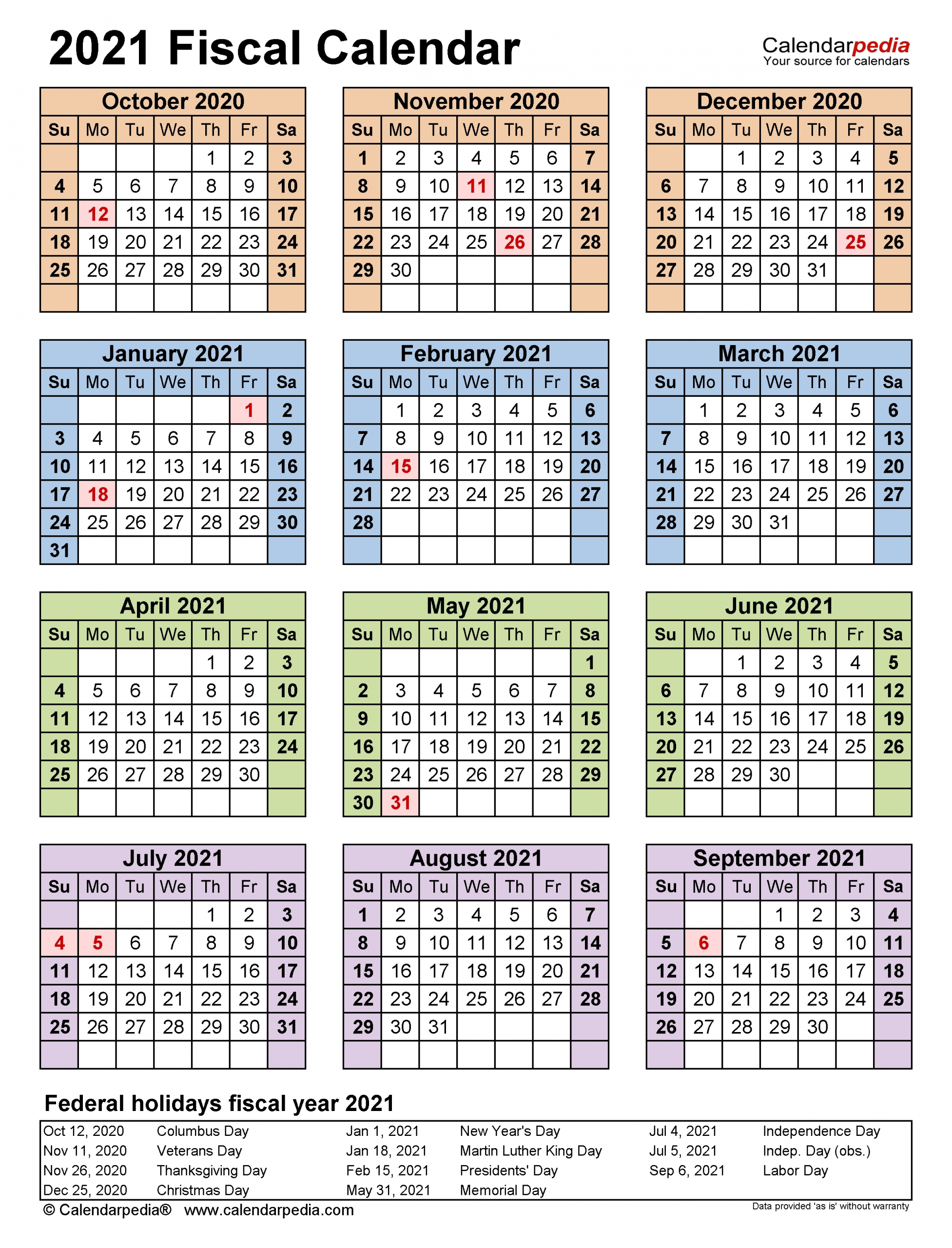 Fiscal Calendars 2021 - Free Printable Excel Templates-2021 Calnder By Week No Excel
