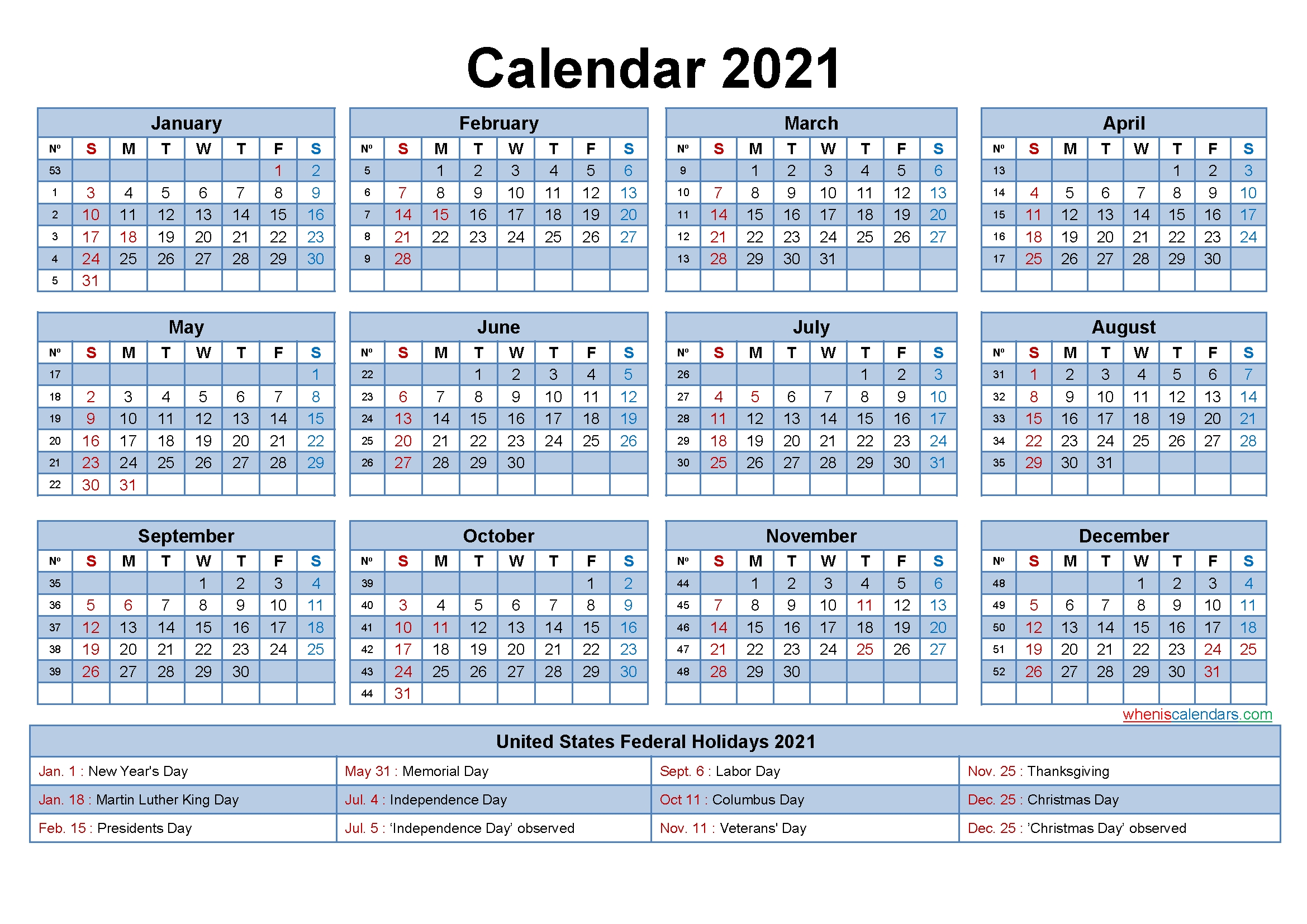 Free Editable Printable Calendar 2021 - Template No.ep21Y14 | Free Printable 2020 Monthly-2021 Print Free Calendars Without Downloading