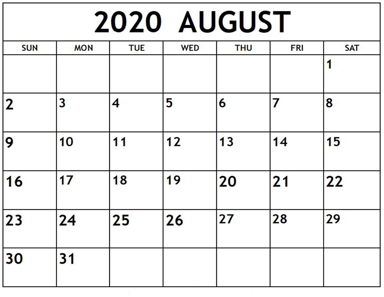 Free Printable 2020 Calendars Large Numbers | Calendar Template Printable Monthly Yearly-Large Numbers Calendar October