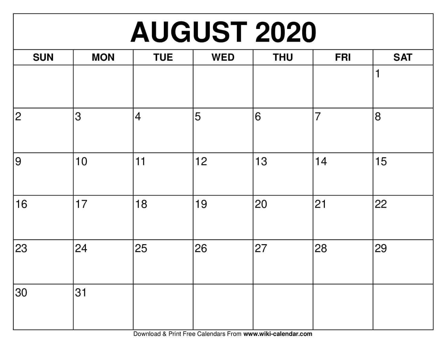 Free Printable August 2020 Calendars-Printable October 2021 Calendar On An 8.5 X 11Paper