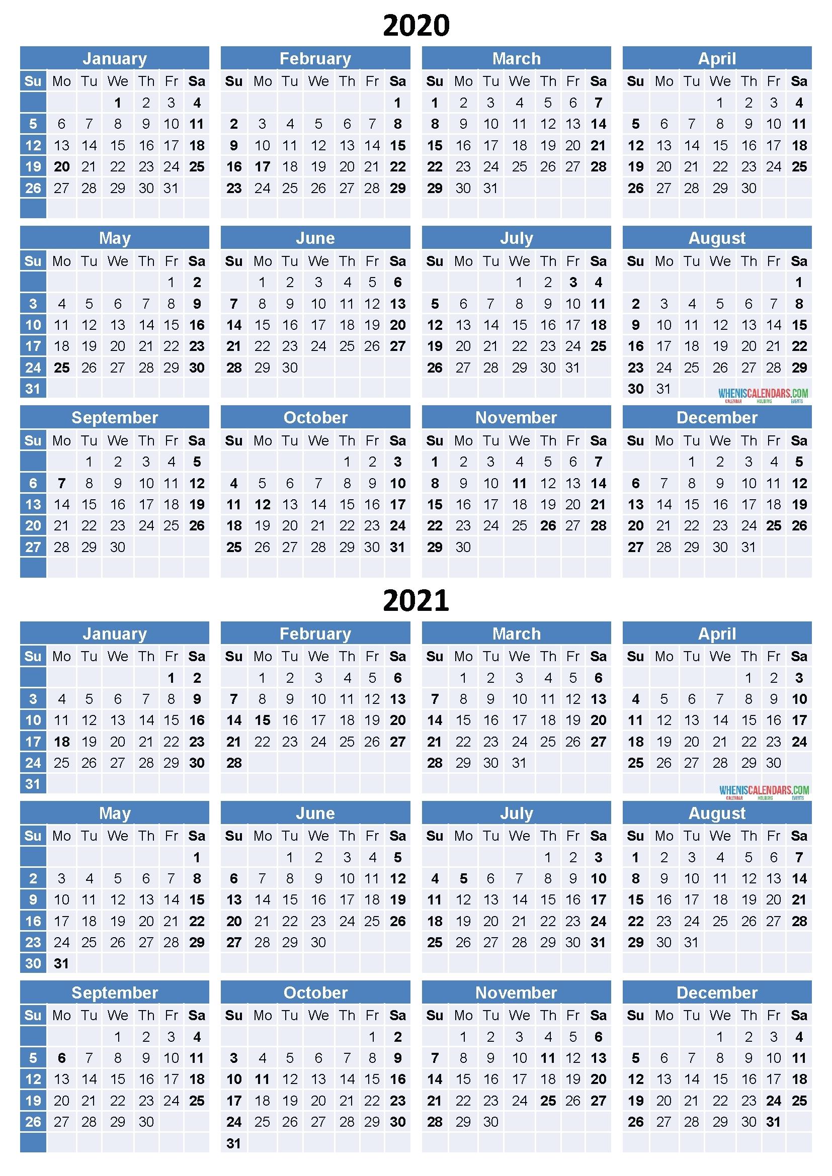 Free Printable Yearly Calendar 2021 2020 – Template Calendar Design-Rut Predictions For Michigan 2021