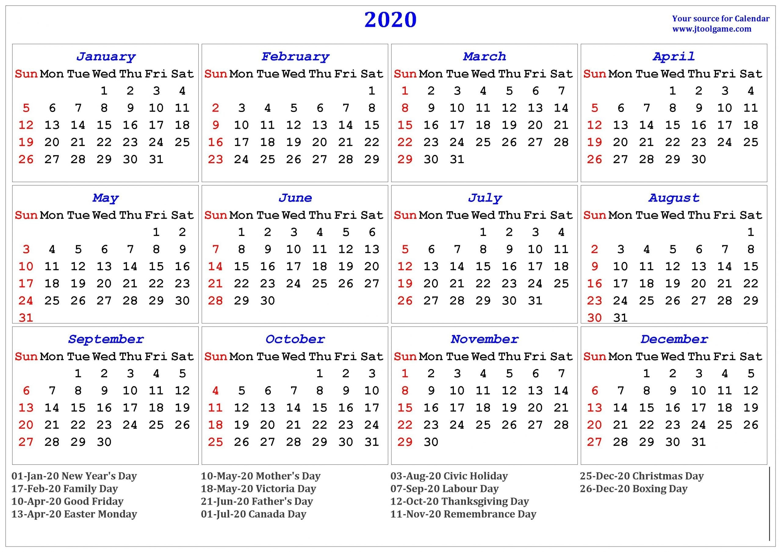 Get 2020 Calendar Printable One Page | Calendar Printables Free Blank-Blank I 9 Form 2021