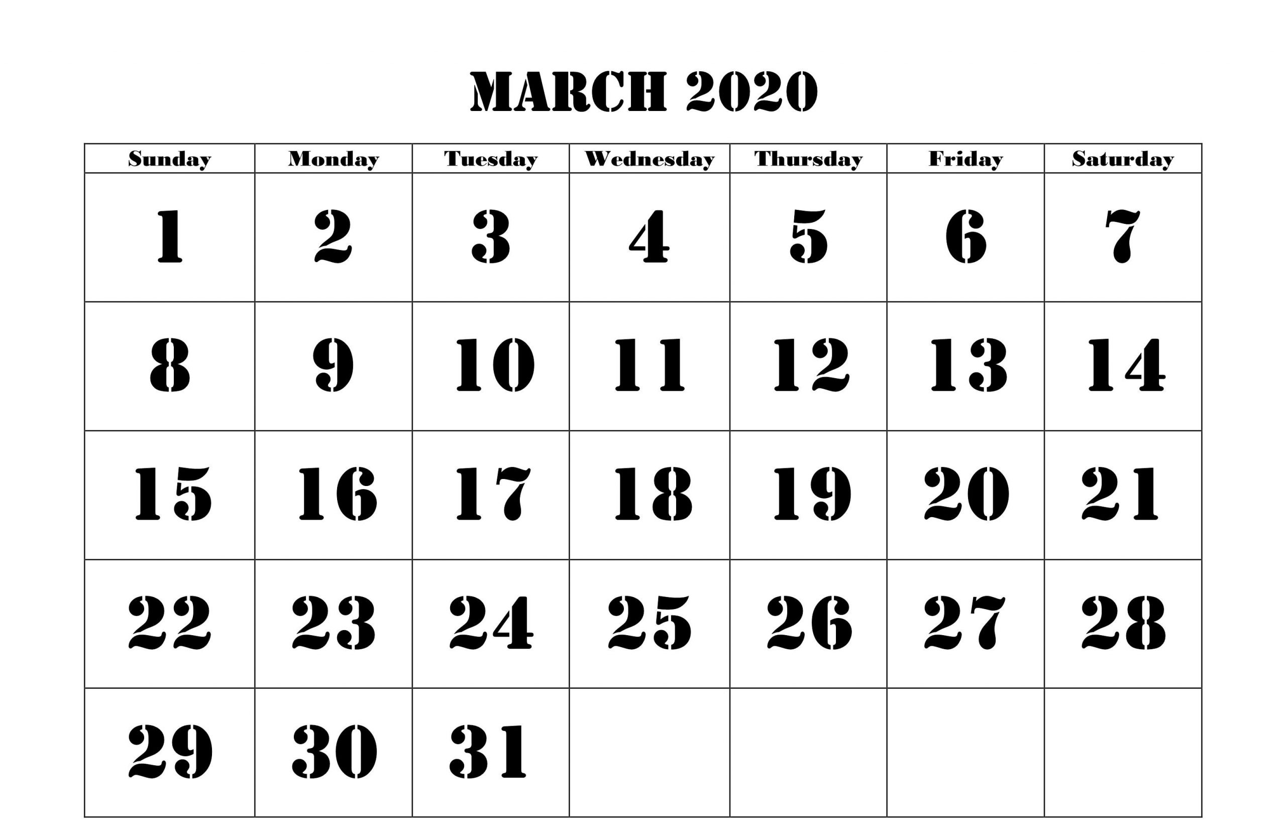March 2020 Calendar Wallpapers - Wallpaper Cave-Printable Monthly Blank Calendars Showing Nfl Games
