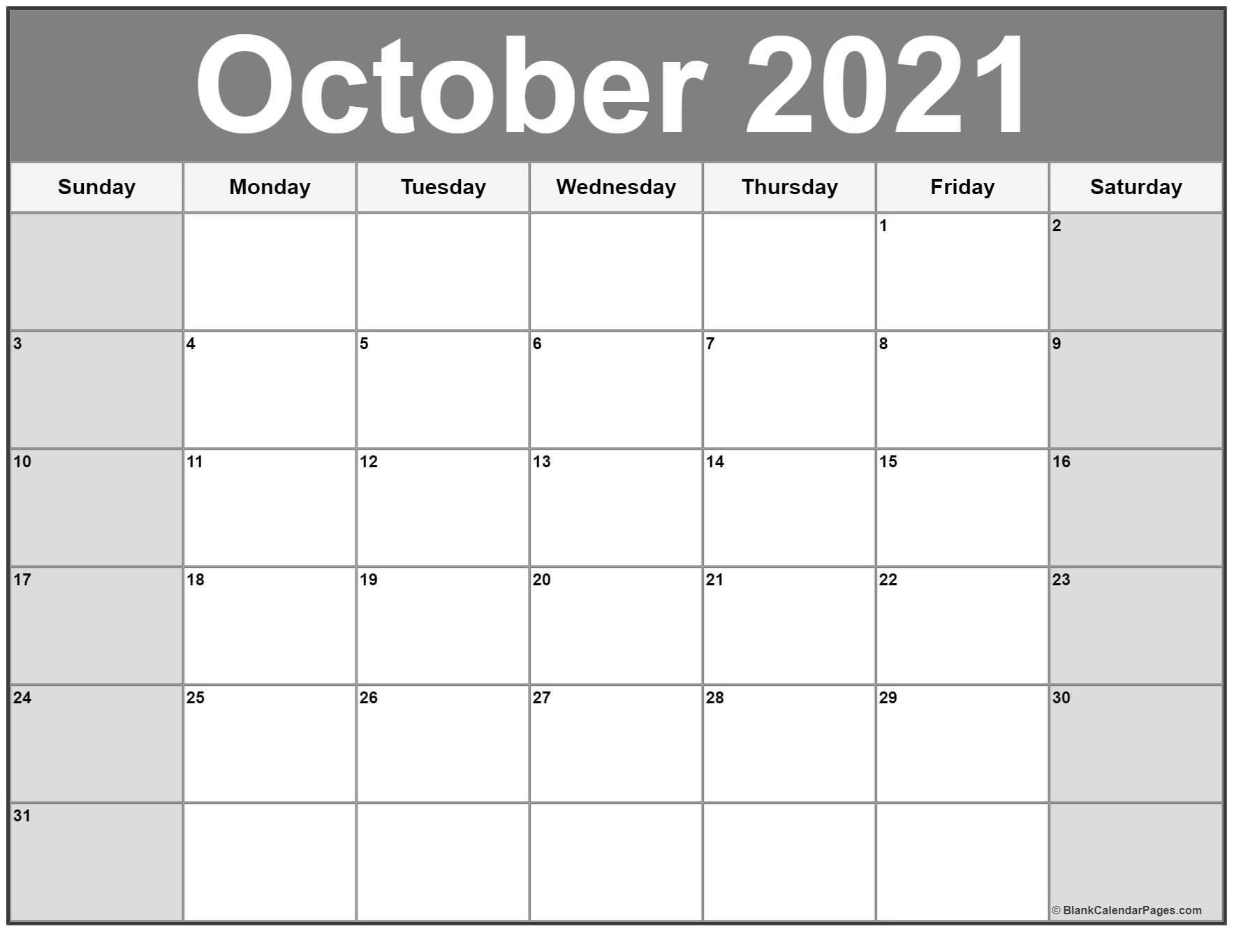 October 2021 Calendar | 56+ Templates Of 2021 Printable Calendars-2021 Printable Calendar From October Thru December