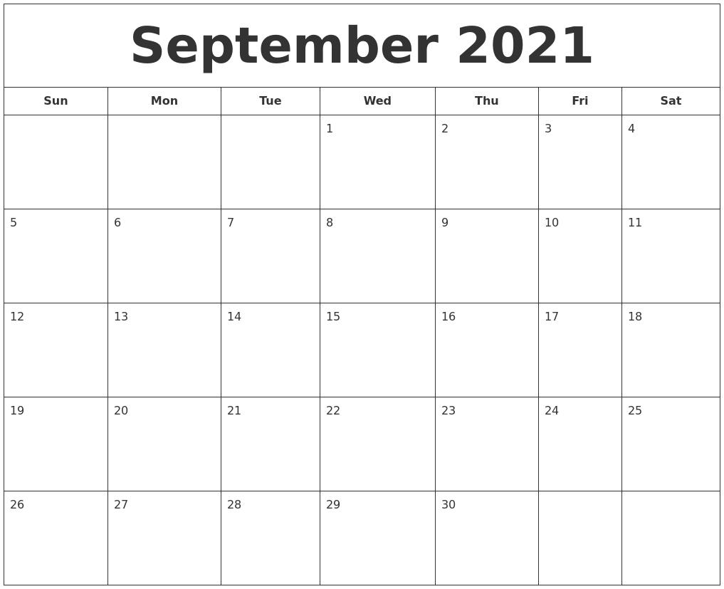 October 2021 Free Calendar-Monthly Calendar Printable October 2021