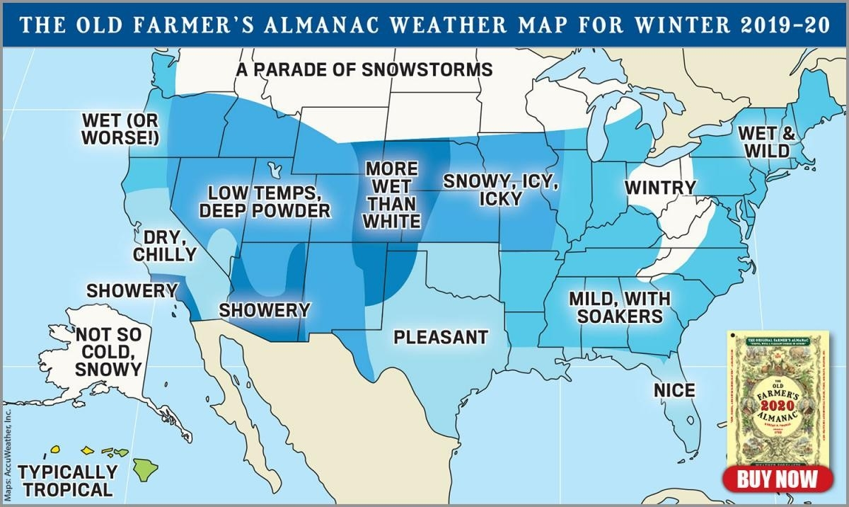 Official 2019–2020 Winter Forecast | The Old Farmer's Almanac-2021 Indiana Rut Prediction