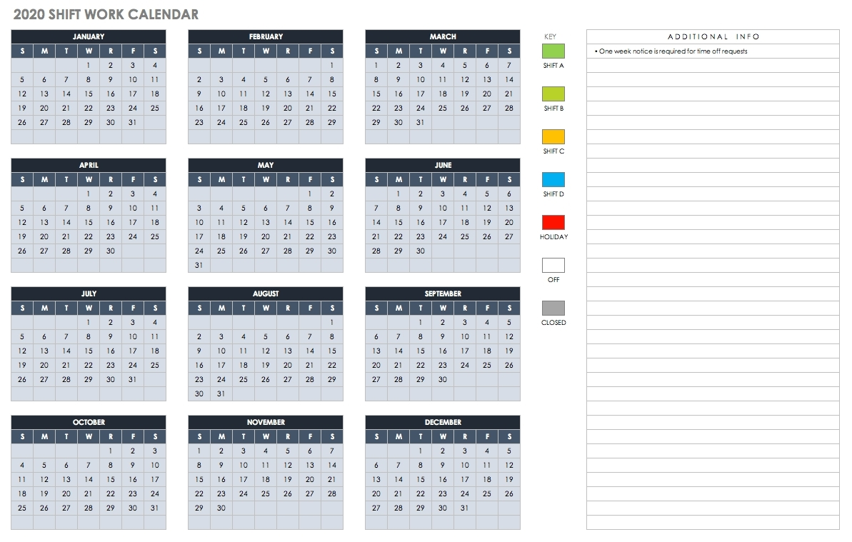 One Page 2 Years Calendar 2019 2020 With Week Number - Calendar Inspiration Design-Yearly Week Number Calendar Excel0.
