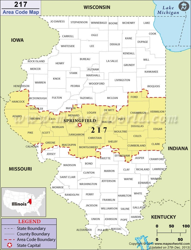 Parts Of Central Illinois To Get A New Area Code | Wsiu-Illinois Rut Report 2021