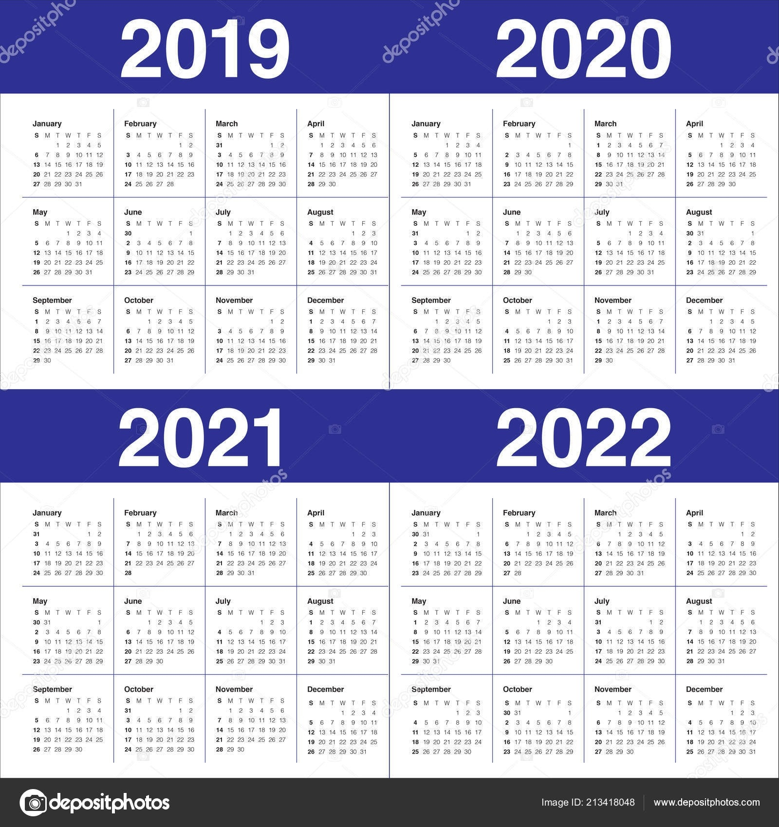 Pick 2 Year Calendar 2020 2021   Calendar Printables Free Blank-2021 Yearly Calendar With Boxes