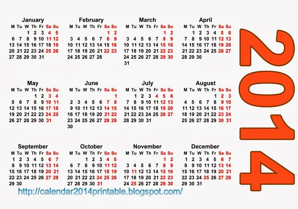 Pocket Calendar 2014 Template Free , Printable Calendar 2014, Blank Calendar 2014, Download-Pocket Calendar Free Online