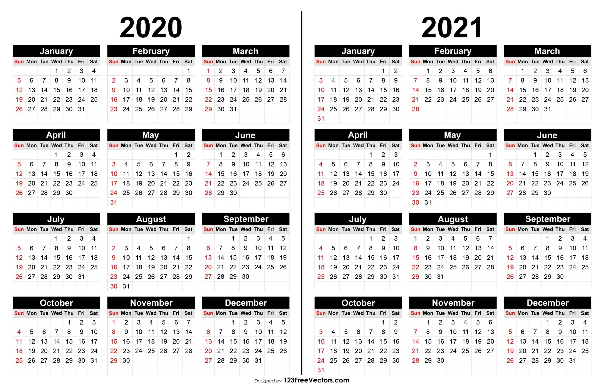 Printable 2020-2021 Calendar | Free Letter Templates-2021 Print Free Calendars Without Downloading