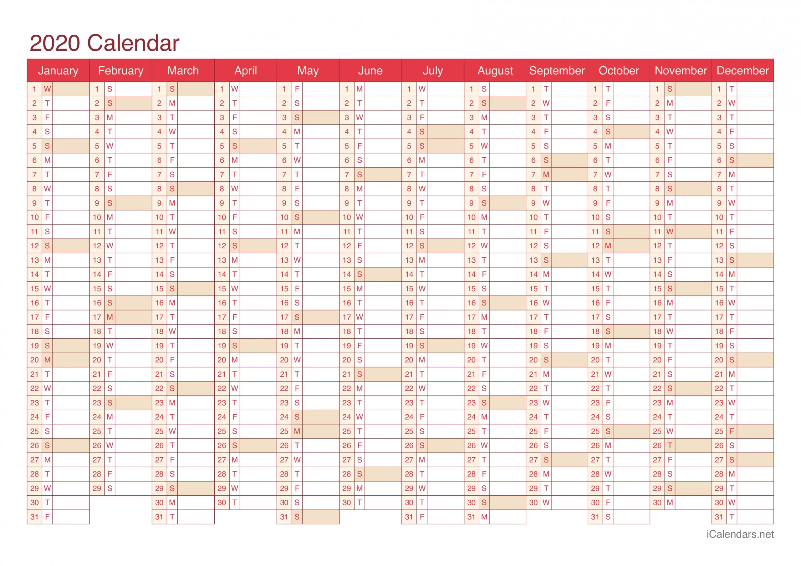 Printable 2020 Calendar With Week Numbers Excel   Calendar Template Printable Monthly Yearly-Yearly Week Number Calendar Excel0.