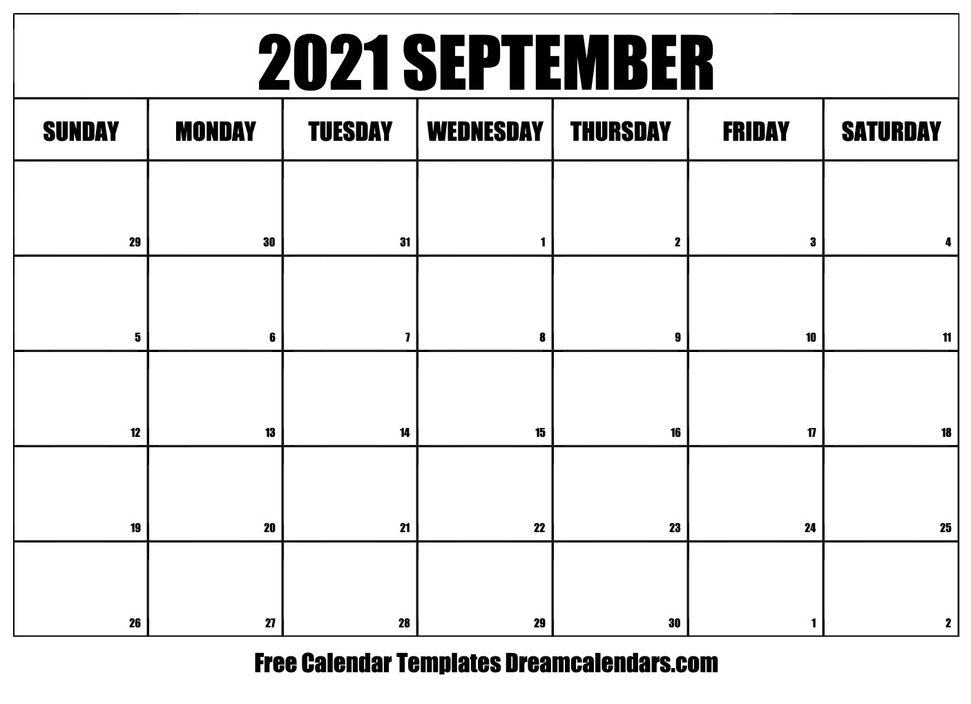 Printable September 2021 Calendar-Festive Printable Calendar 2021