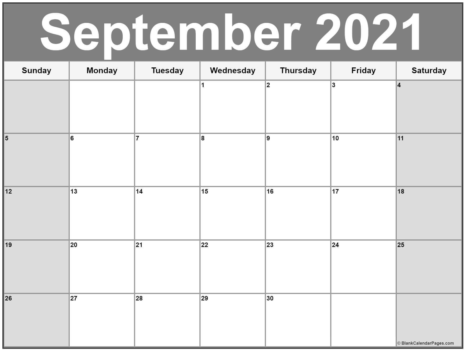 September 2021 Calendar   Free Printable Monthly Calendars-Monthly Calendar Printable October 2021