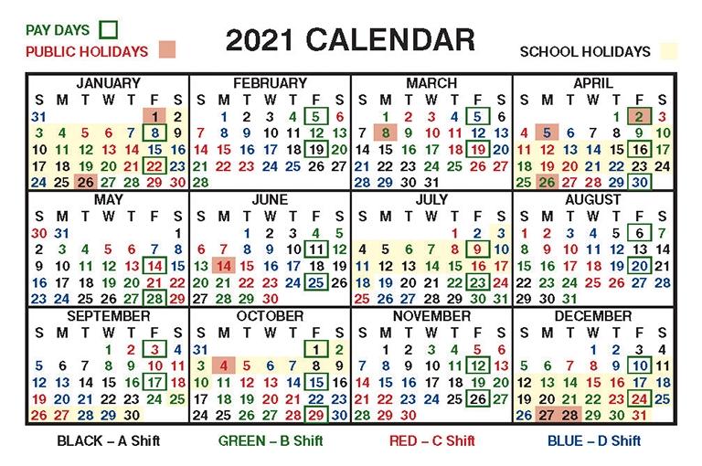 Shift Roster – Ambulance Employees Association-Calendar For Shift Work 2021